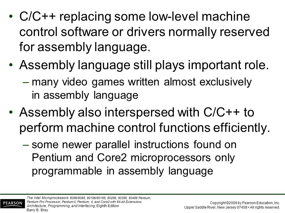 Assembly language still plays important role.