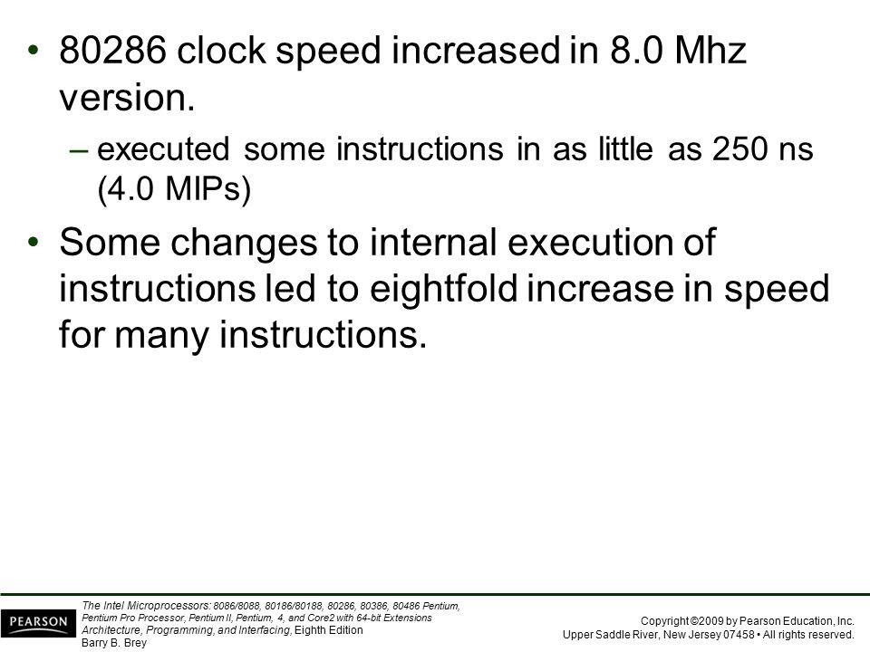 80286 clock speed increased in 8.0 Mhz version.