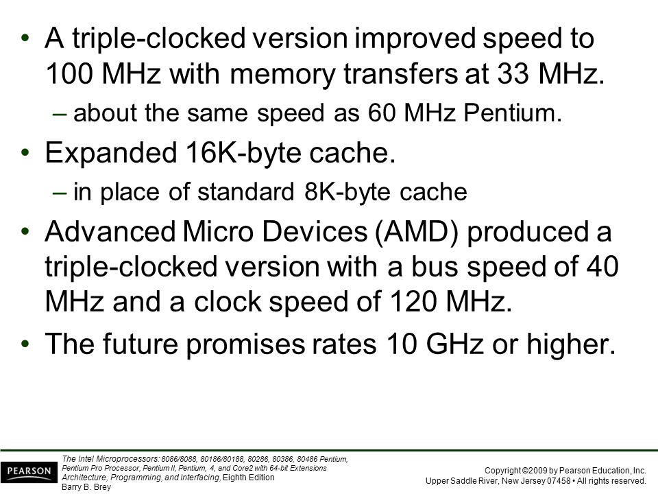 The future promises rates 10 GHz or higher.