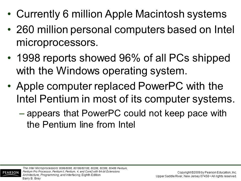 Currently 6 million Apple Macintosh systems