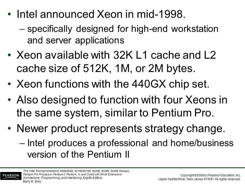 Intel announced Xeon in mid-1998.