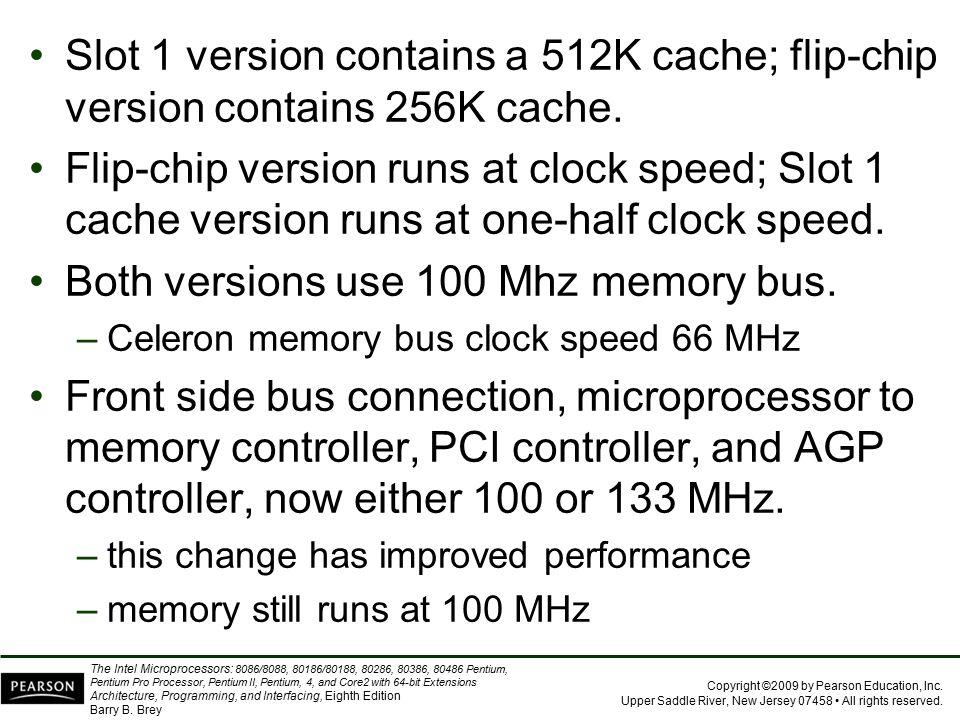 Both versions use 100 Mhz memory bus.