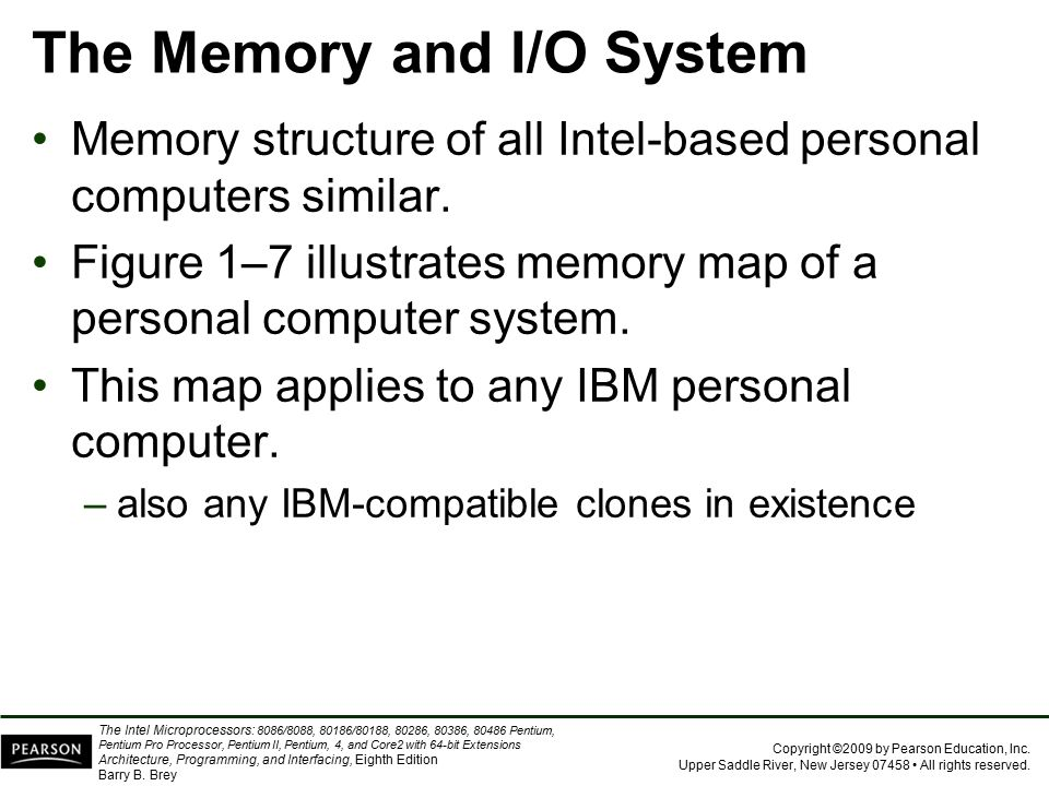 The Memory and I/O System