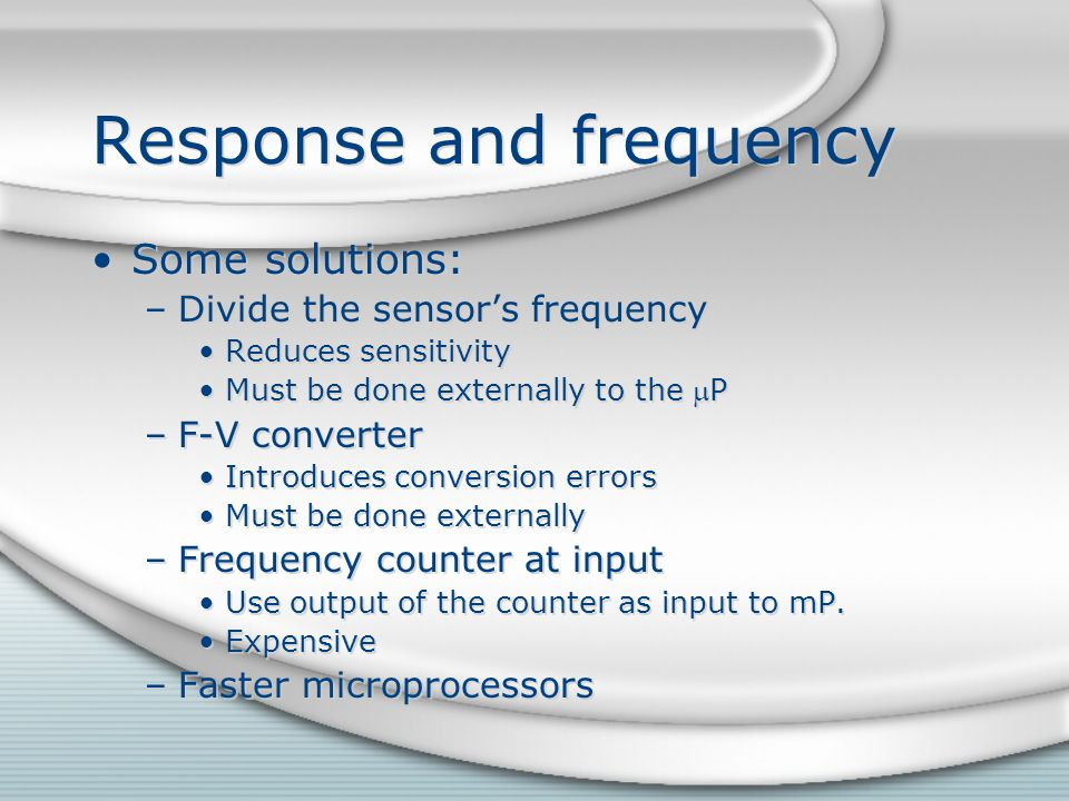 Response and frequency