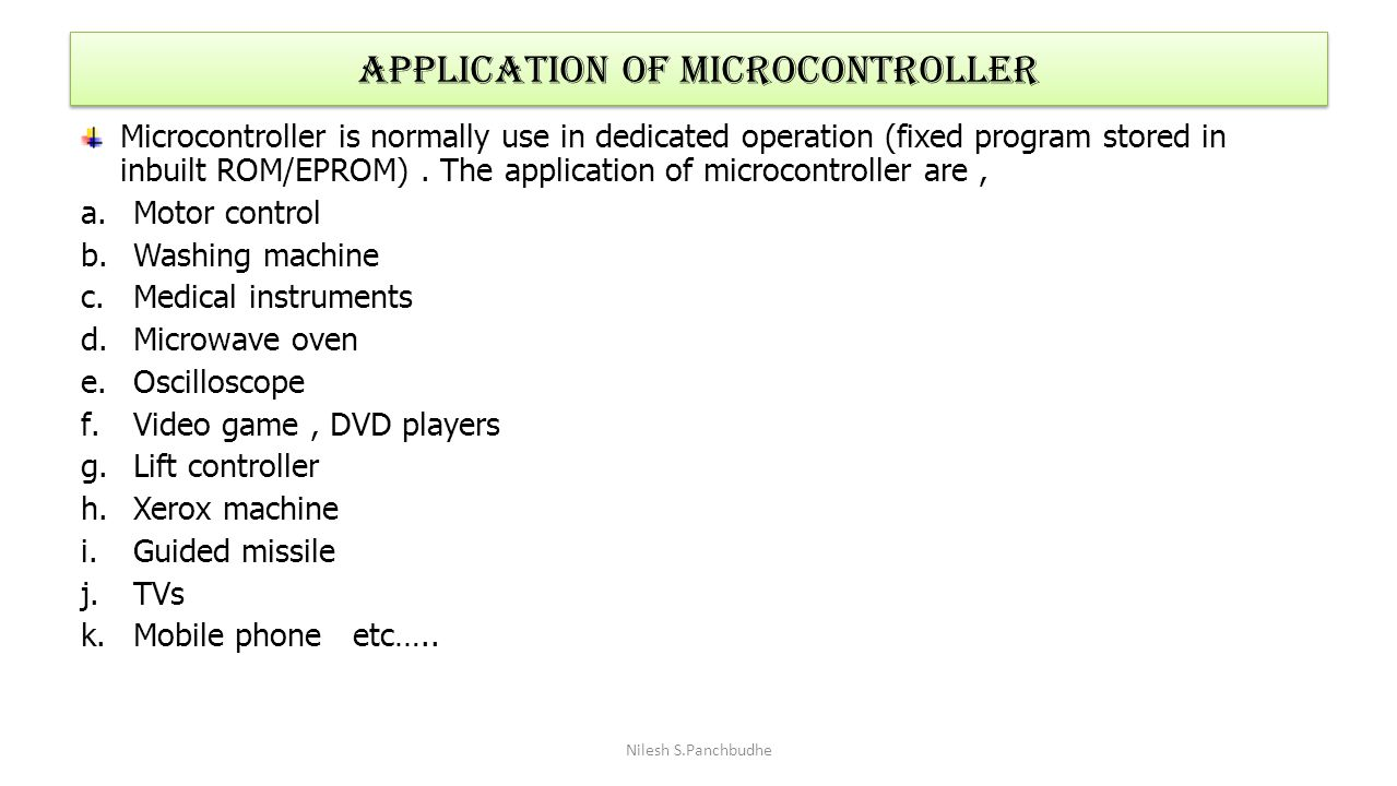 Application of Microcontroller