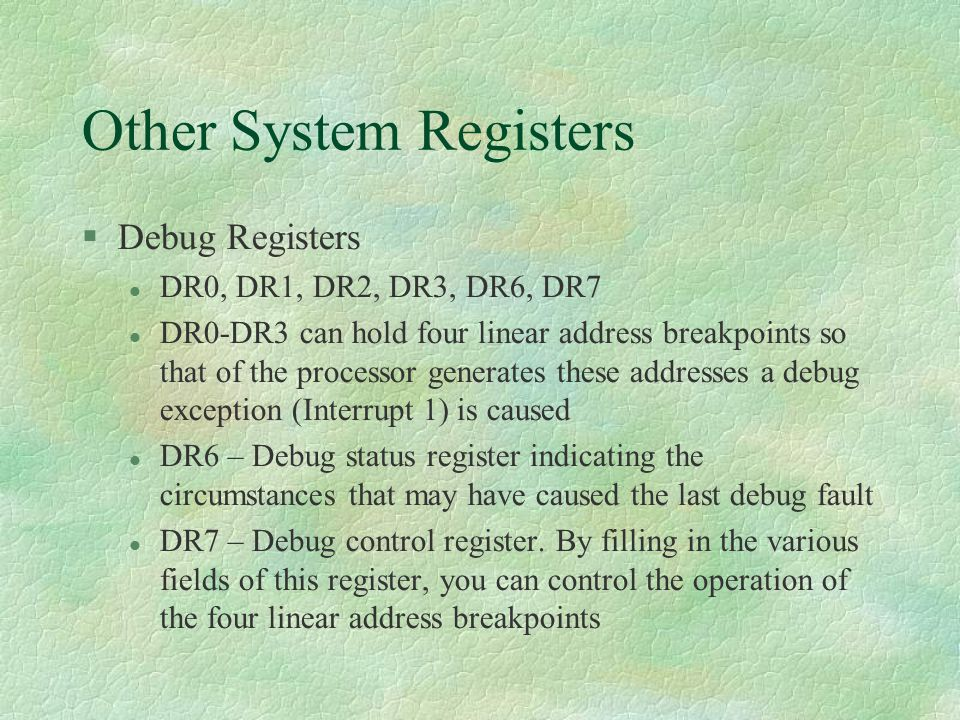 Other System Registers
