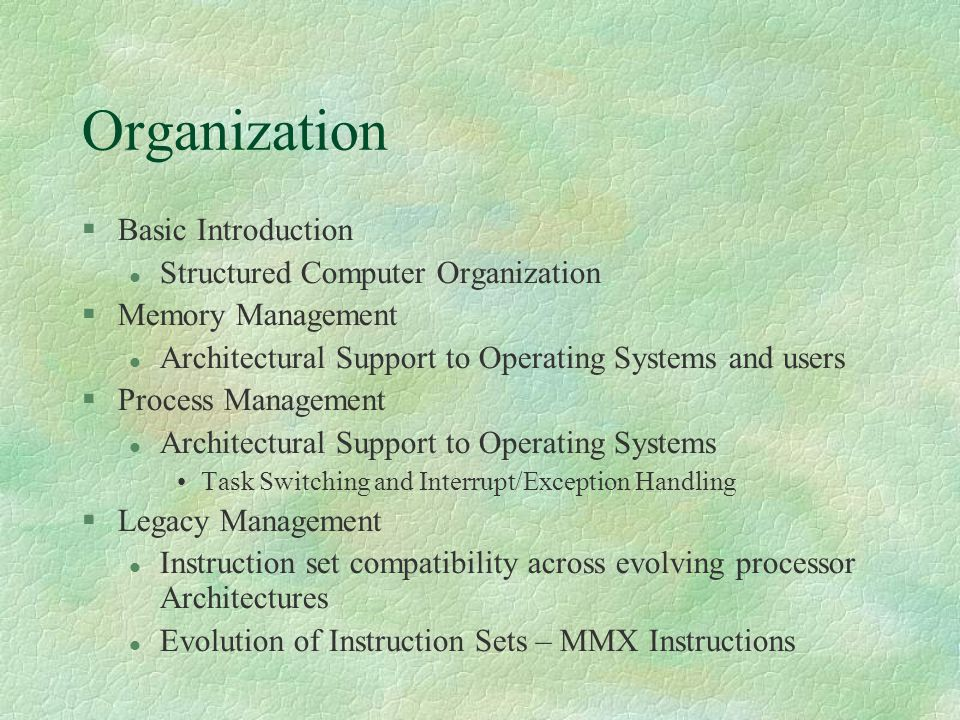 Organization Basic Introduction Structured Computer Organization