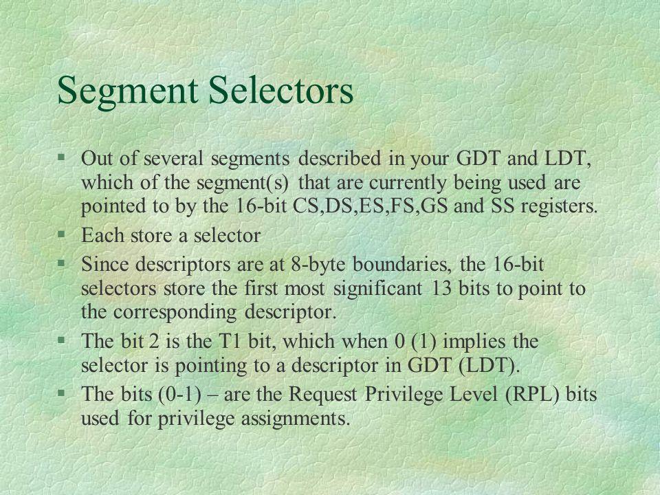 Segment Selectors