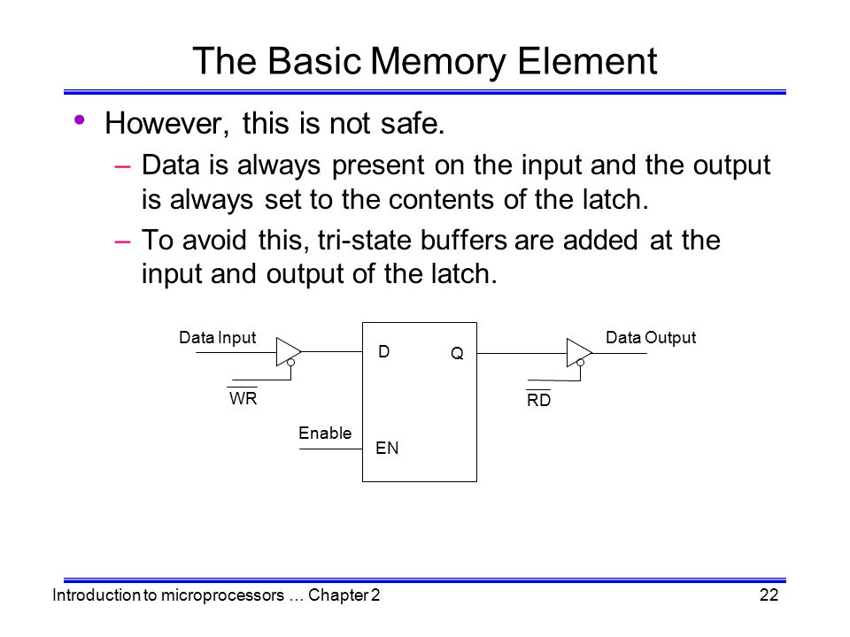 The Basic Memory Element