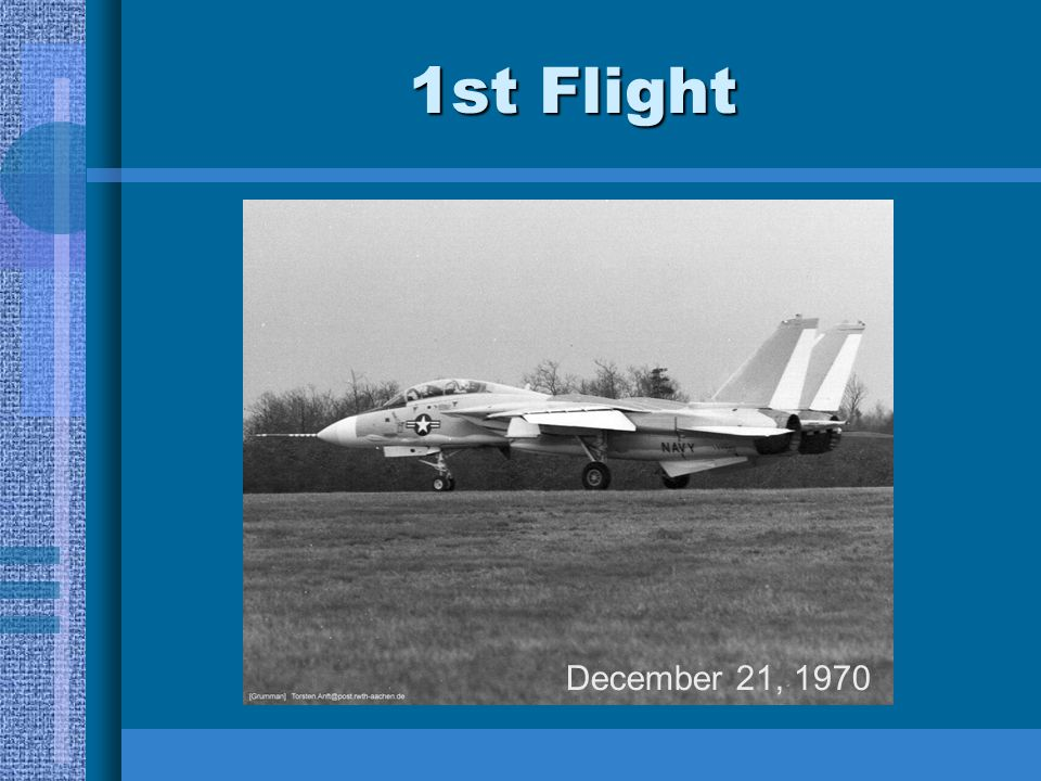 * 07/16/96 1st Flight December 21, 1970 *