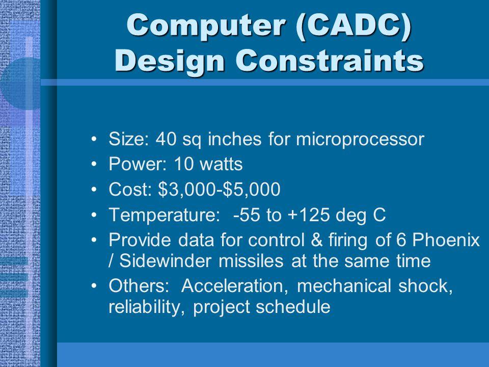 Computer (CADC) Design Constraints