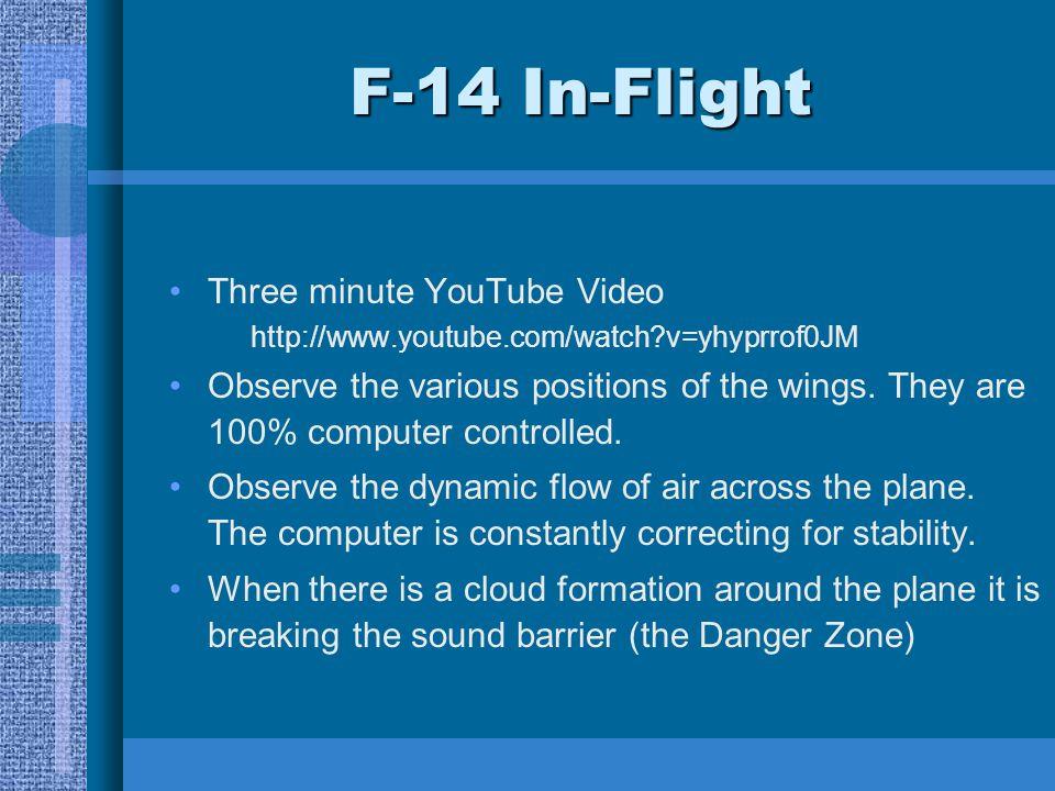F-14 In-Flight Three minute YouTube Video