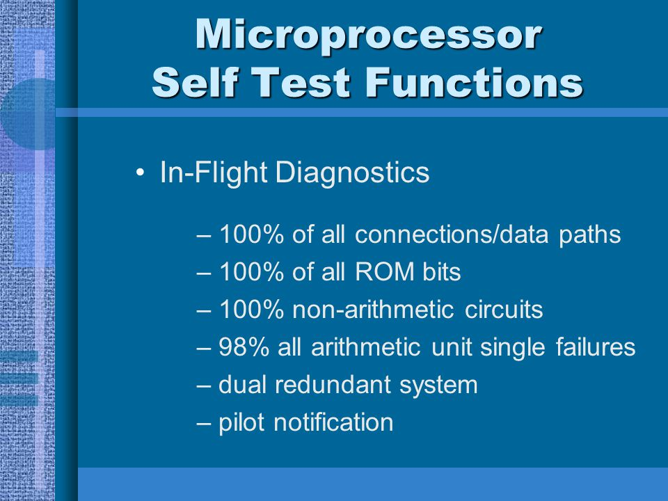 Microprocessor Self Test Functions