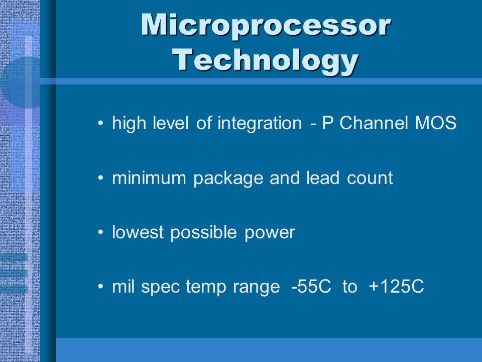 Microprocessor Technology