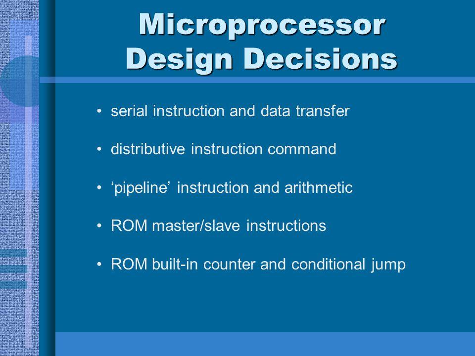 Microprocessor Design Decisions