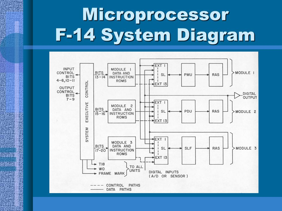 Microprocessor F-14 System Diagram