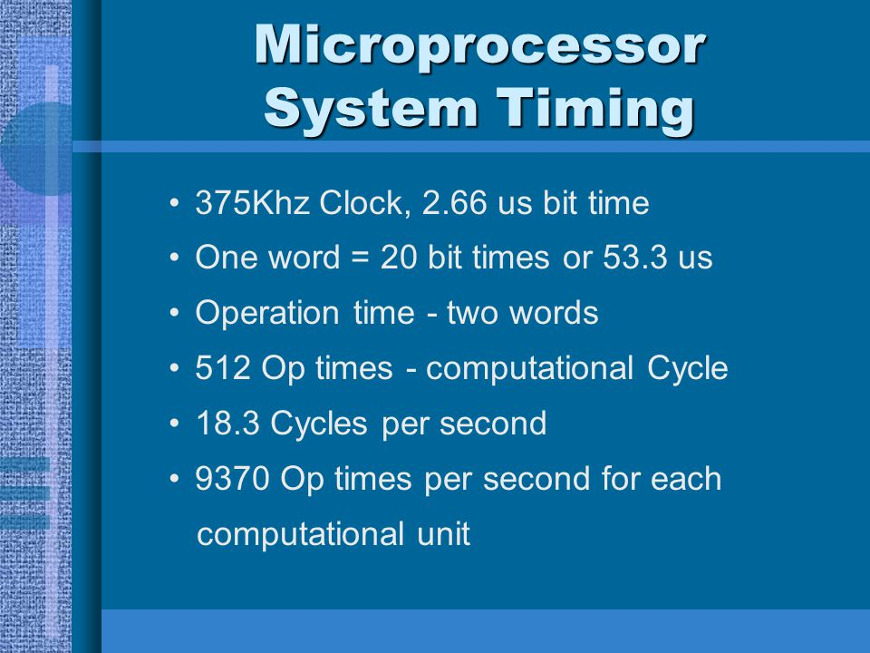 Microprocessor System Timing