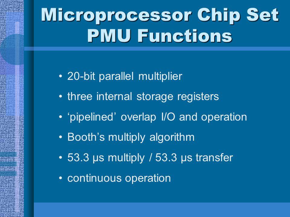 Microprocessor Chip Set PMU Functions
