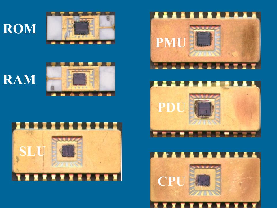 * 07/16/96 ROM PMU RAM PDU SLU CPU *