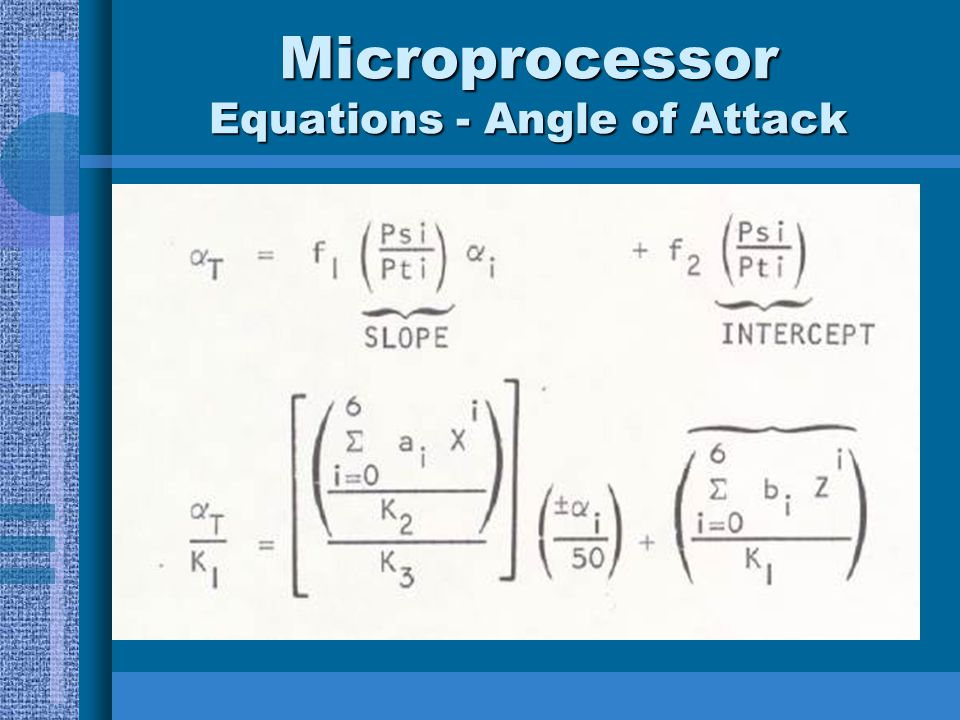 Microprocessor Equations - Angle of Attack