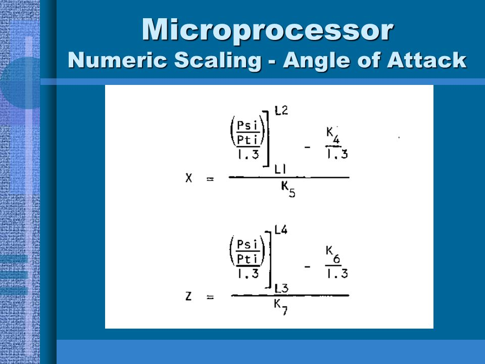 Microprocessor Numeric Scaling - Angle of Attack