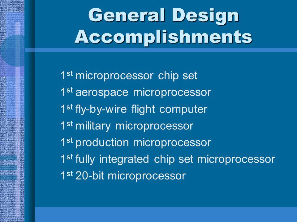 General Design Accomplishments