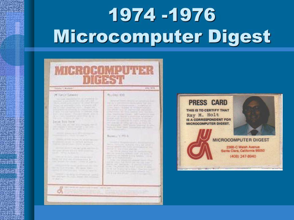 1974 -1976 Microcomputer Digest