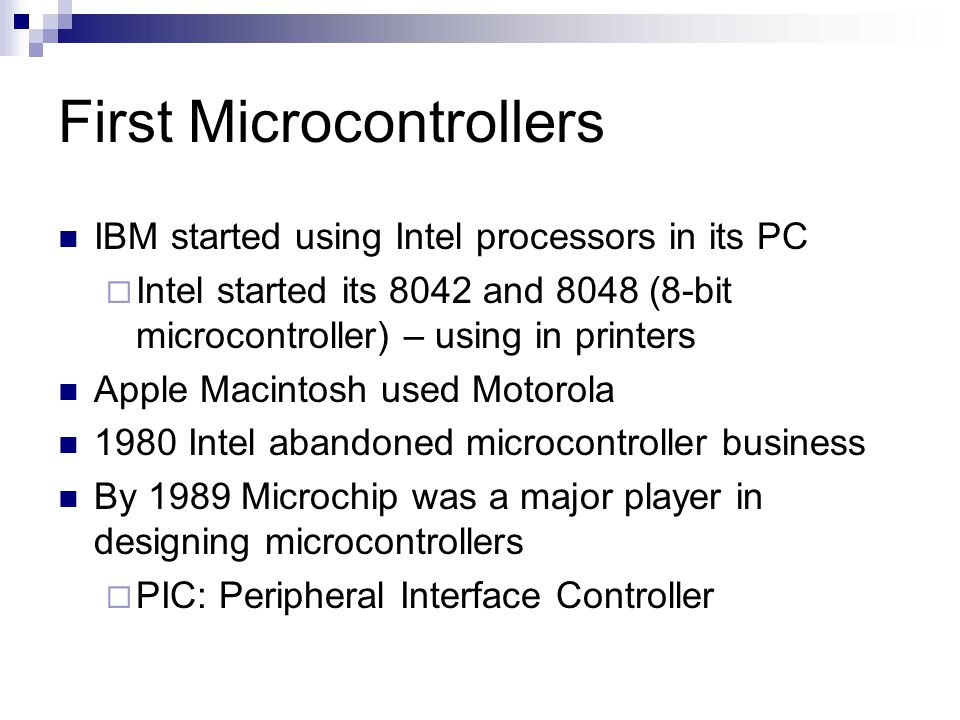 First Microcontrollers