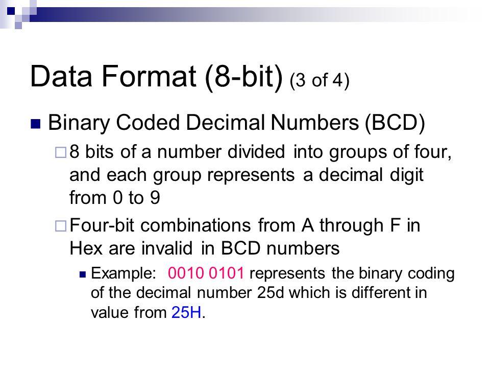Data Format (8-bit) (3 of 4)