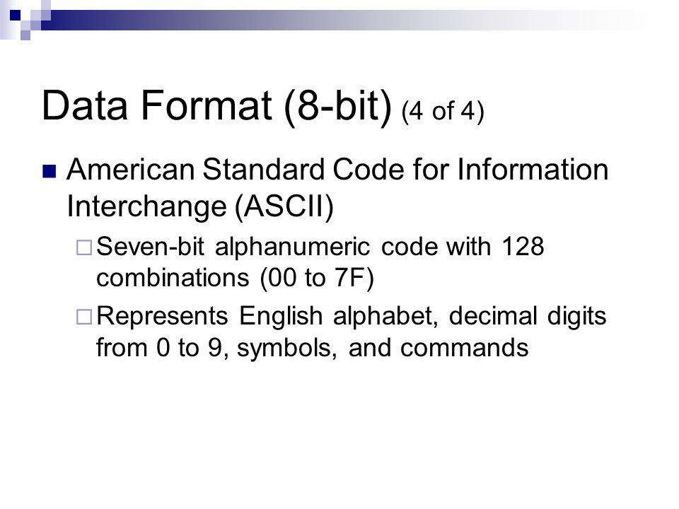 Data Format (8-bit) (4 of 4)