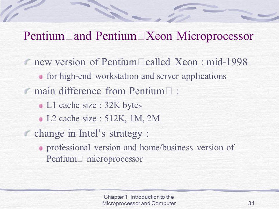 PentiumⅡand PentiumⅡXeon Microprocessor