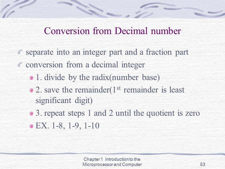 Conversion from Decimal number