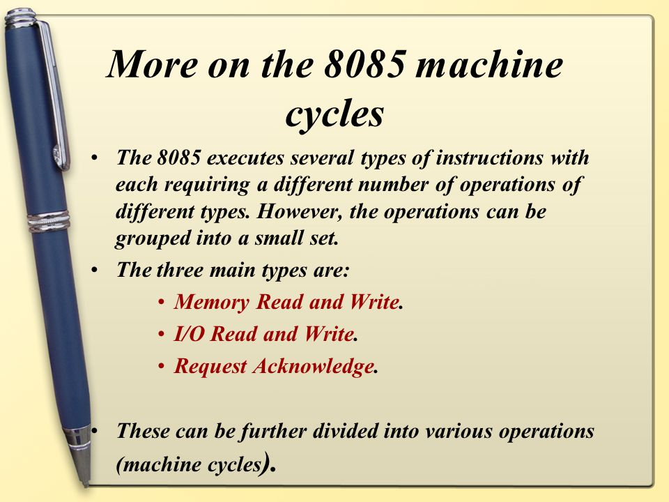 More on the 8085 machine cycles