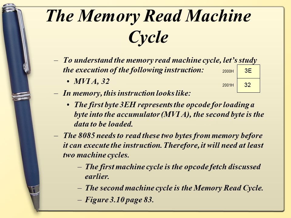 The Memory Read Machine Cycle