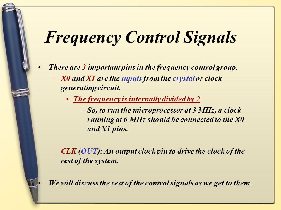 Frequency Control Signals