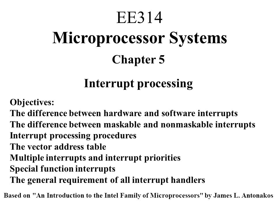 EE314 Microprocessor Systems