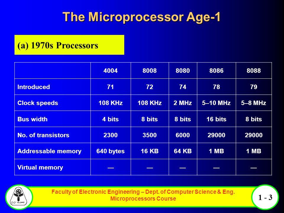 The Microprocessor Age-1