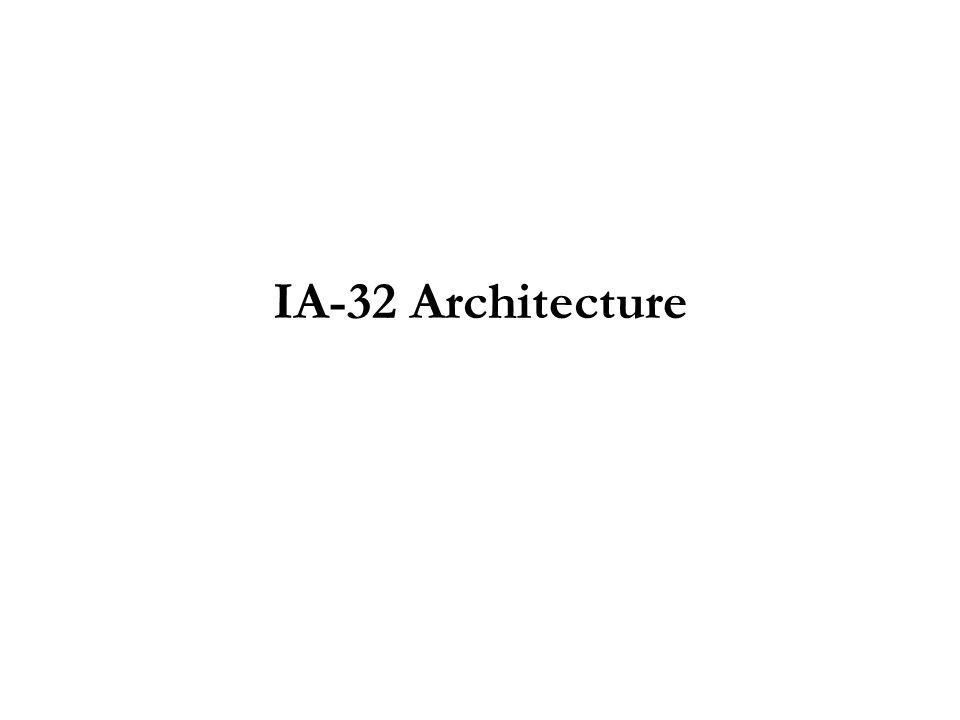 IA-32 Architecture