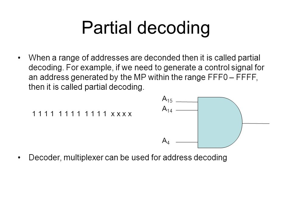 Partial decoding