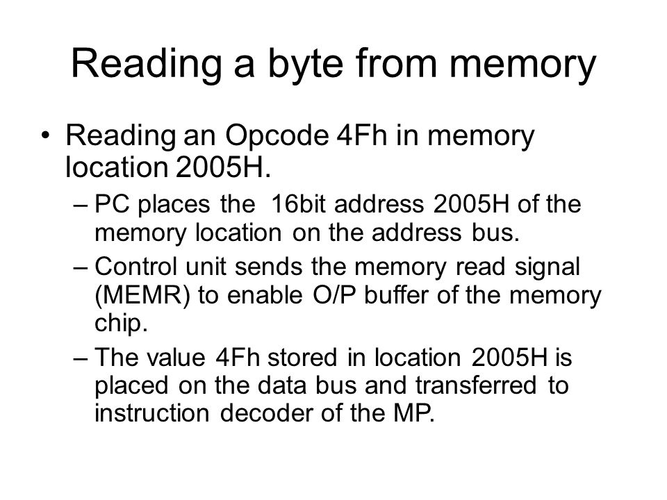Reading a byte from memory