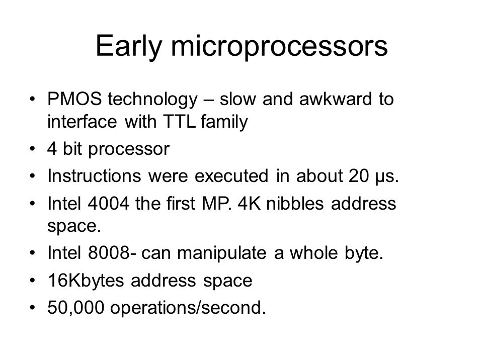 Early microprocessors