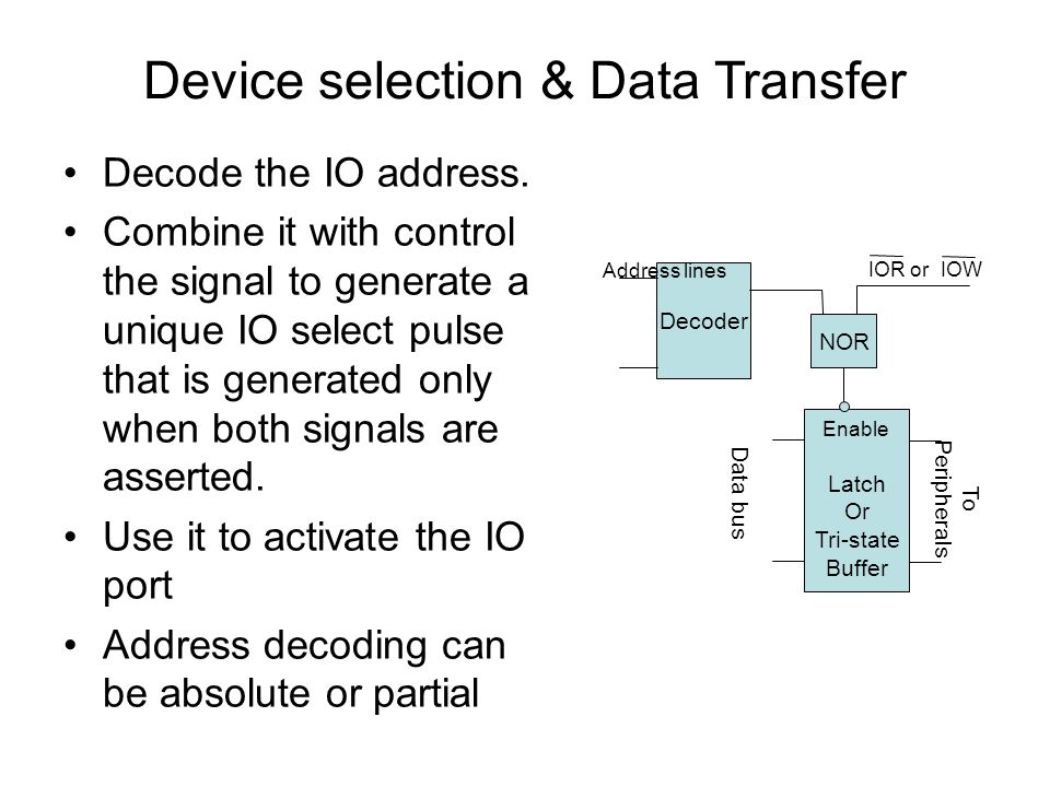Device selection & Data Transfer