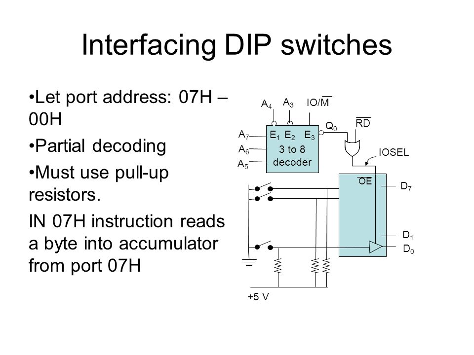 Interfacing DIP switches