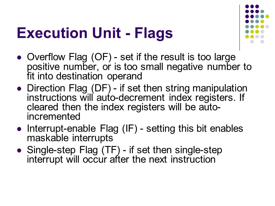 Execution Unit - Flags