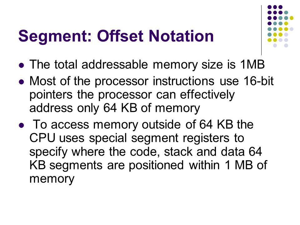 Segment: Offset Notation