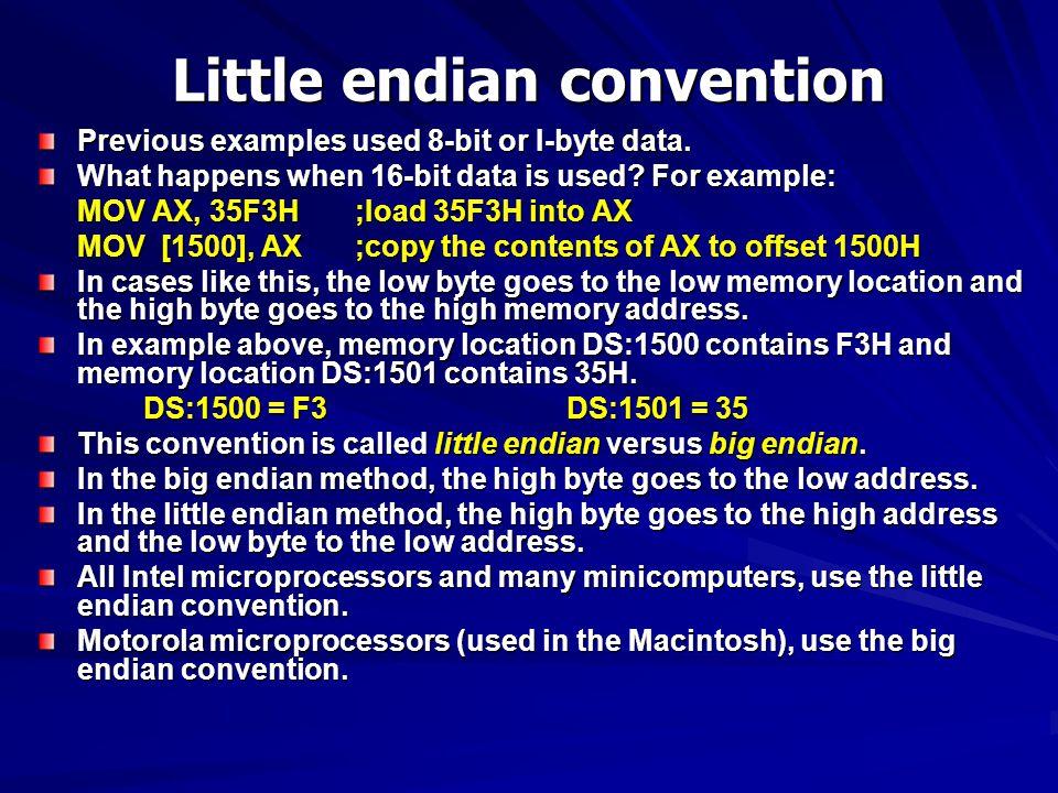 Little endian convention