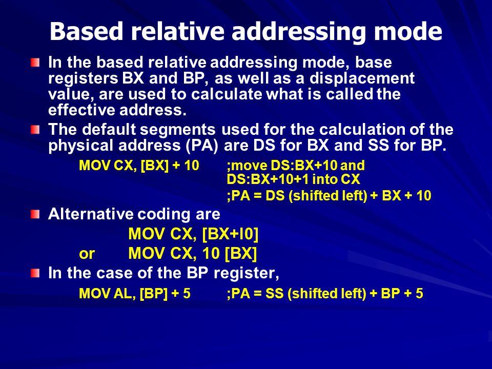 Based relative addressing mode