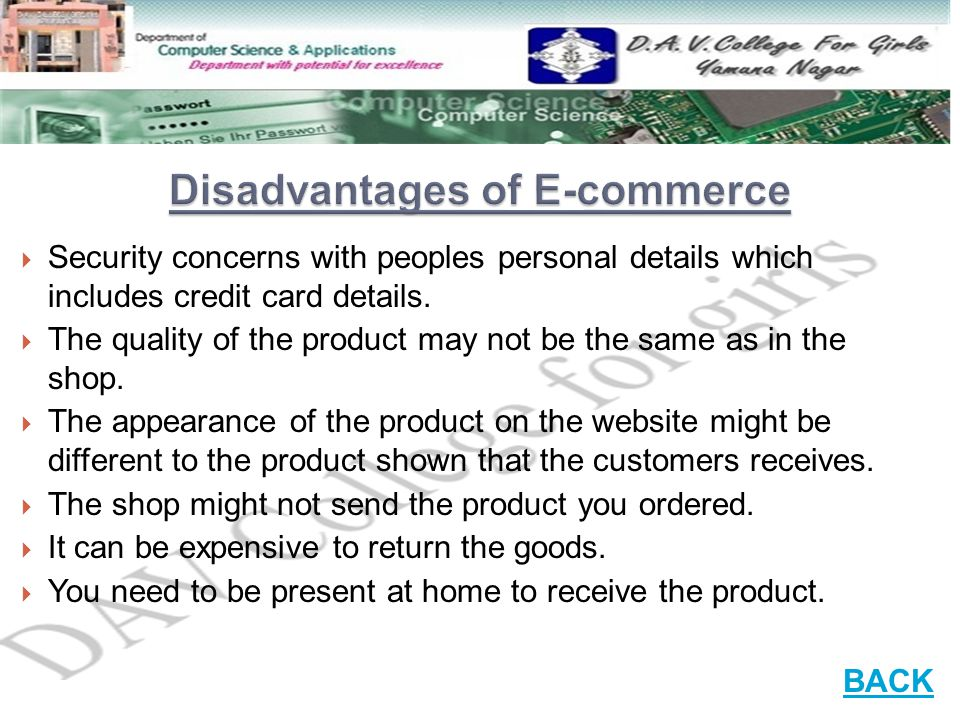 e commerce forum advantages and disadvantages Contents1 e-commerce: meaning, advantages and disadvantages11 e-commerce meaning 12 advantages of e-commerce (pros & benefits)13 disadvantages of e-commerce (cons.