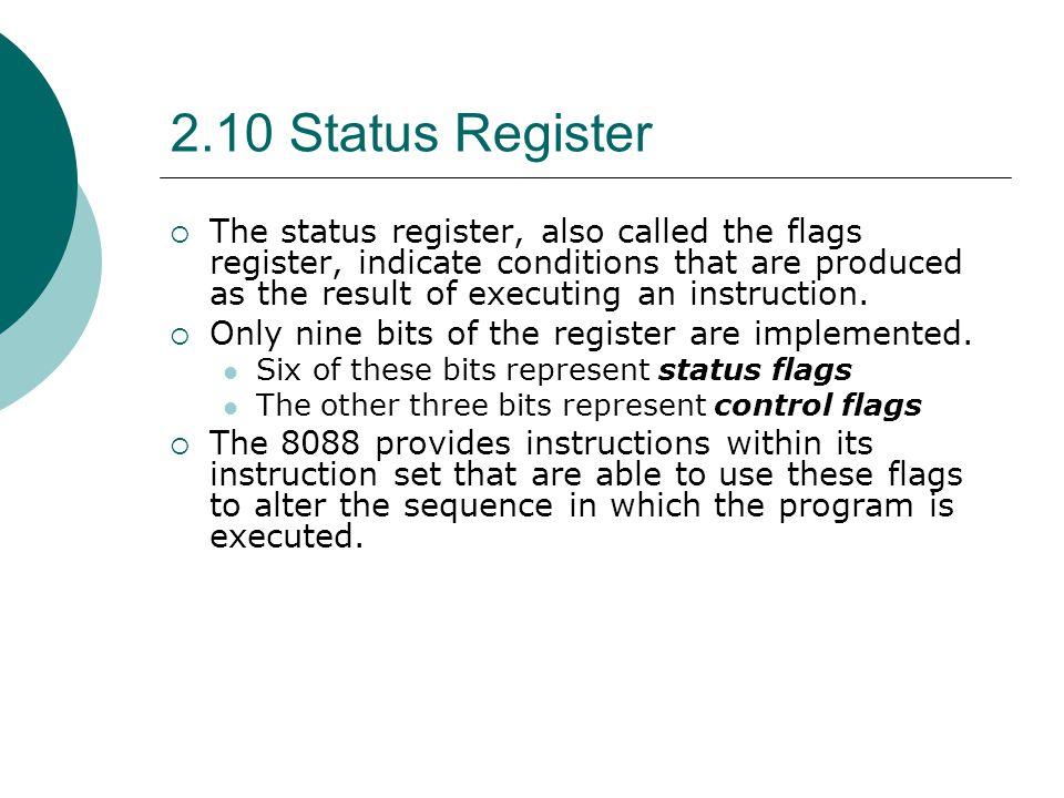 2.10 Status Register