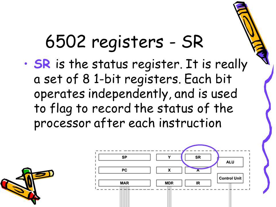 6502 registers - SR